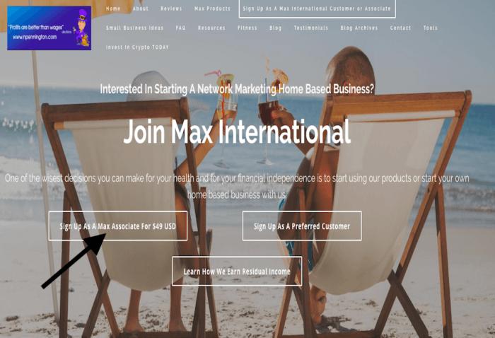 max international sign up