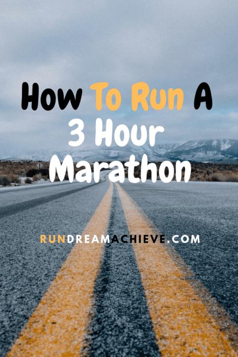 how to run a 3 hour marathon