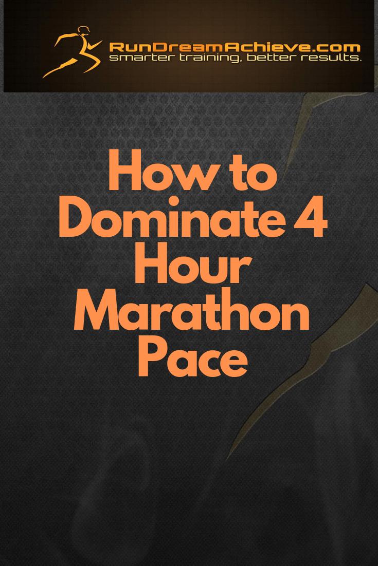 4 hour marathon pace