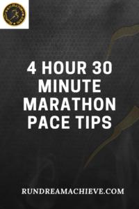 4 hour 30 minute marathon pace