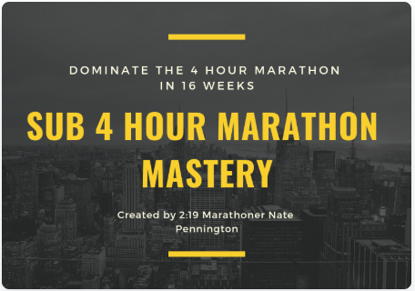 How to Train to Run a Sub 4 Hour Marathon