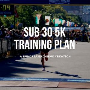 sub 30 minute 5K training plan