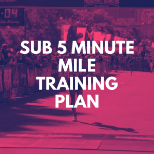 5 minute mile training plan